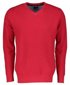 Jac Hensen pullover - modern fit - rood