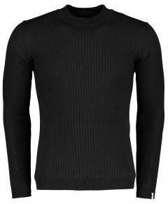 Hensen pullover - slim fit - zwart