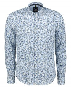 Lerros overhemd - regular fit - blauw