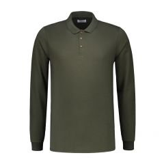 Dstrezzed polo lange mouw- slim fit - groen