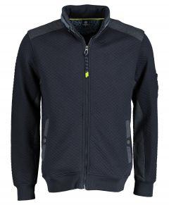 Lerros vest - regular fit - blauw