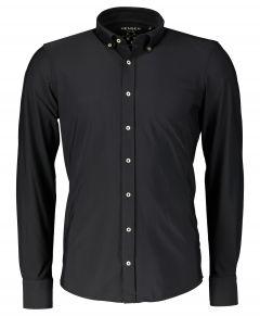 Hensen overhemd - extra lang - zwart