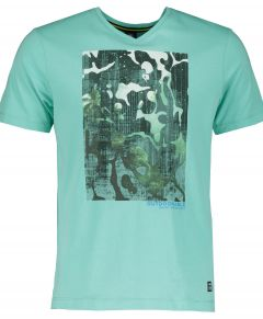 Lerros t-shirt - regular fit - groen