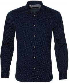 sale - Manuel Ritz overhemd - slim fit - blauw