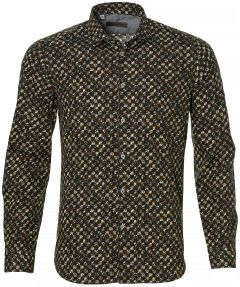 sale - Manuel Ritz overhemd - slim fit - bruin