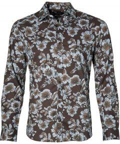Matinique overhemd - slim fit - bruin