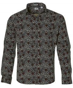 Dstrezzed overhemd - slim fit - bruin