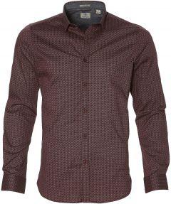Dstrezzed overhemd - slim fit - bordo