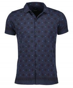 Dstrezzed overhemd - slim fit - navy