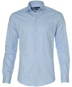 Gentiluomo overhemd - sllim fit - blauw