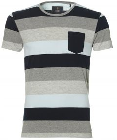 sale - Lion t-shirt - modern fit - blauw