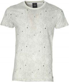 Lion t-shirt - extra lang - wit