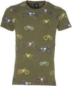 Lion t-shirt - slim fit - groen