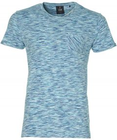 Lion t-shirt - slim fit - blauw