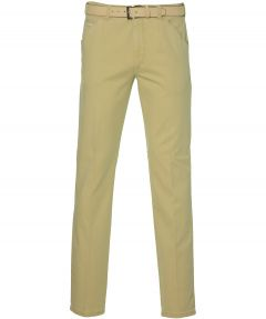 Meyer pantalon Chicago - modern fit - geel