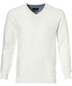 sale - Nils pullover - slim fit - wit