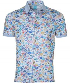 sale - British Indigo polo - slim fit - blauw