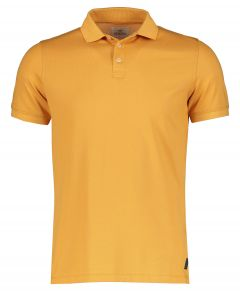 Hensen polo - slim fit - okergeel
