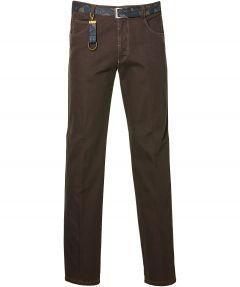 sale - Meyer pantalon Diego - modern fit - bruin