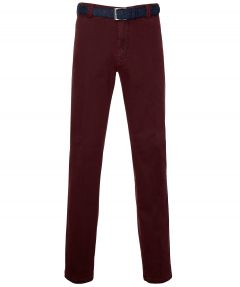 Meyer chino Bonn - modern fit - rood