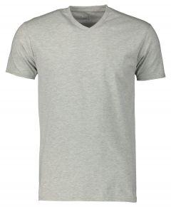 Nils T-shirt v-hals - slim fit - grijs
