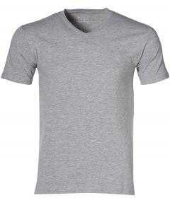Nils T-shirt v-hals - extra lang - grijs