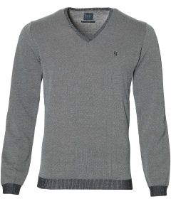 Nils pullover v-hals - slim fit - donkerblauw
