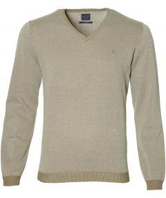 Nils pullover v-hals - slim fit - beige