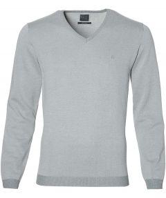 Nils pullover v-hals - slim fit - grijs
