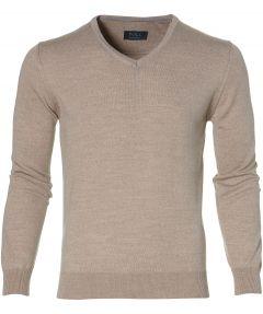 sale - Nils pullover - slim fit - beige