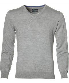 sale - Nils pullover - slim fit - grijs