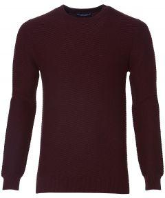Gentiluomo pullover - slim fit - bordo