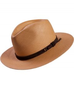 City Sport Panama hoed - cognac