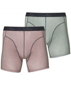 Jac Hensen boxers 2-pack - rood groen