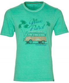 Colours & Sons t-shirt - slim fit - groen