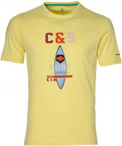 Colours & Sons t-shirt - slim fit - geel