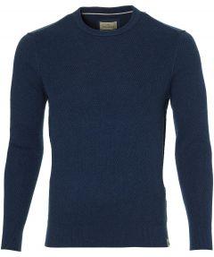 Hensen pullover - slim fit - blauw