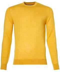 Hensen pullover - slim fit - geel