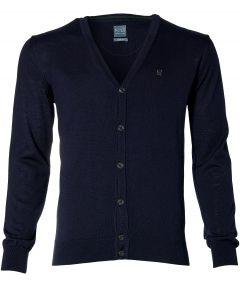 Nils vest - slim fit - blauw