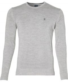 Nils pullover - extra lang - grijs