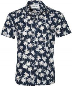 Anerkjendt overhemd - slim fit - donkerblauw