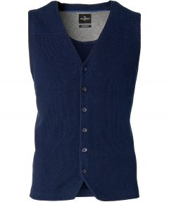 Jac Hensen gilet - modern fit - blauw