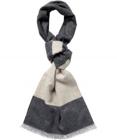 sale - Jac Hensen shawl - wol dessin - grijs
