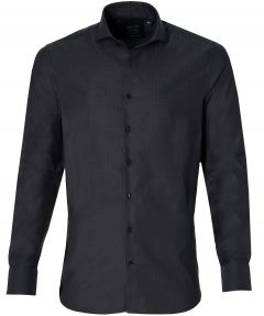 Nils overhemd - extra lang - zwart