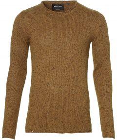 Anerkjendt pullover - slim fit - bruin