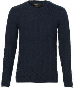 sale - Anerkjendt pullover - slim fit - blauw