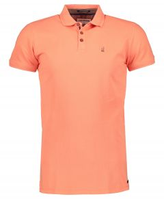 No Excess polo - modern fit - zalm oranje