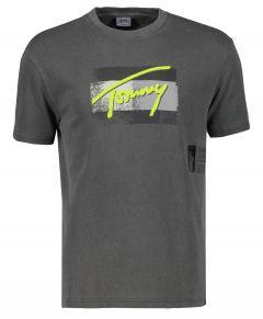 Tommy Jeans t-shirt - slim fit - antraciet
