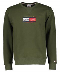 Tommy Jeans sweater - slim fit - groen