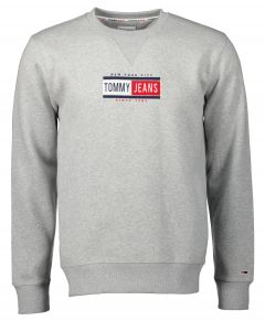 Tommy Jeans sweater - slim fit - grijs